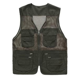10. Men's outdoor Multi-functional Multi-pocket mesh Fishing Vest