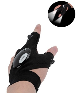5. Coroler Cool Finers LED Flashlight Gloves For repairing