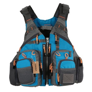 1. Lixada Mesh Fly Fishing Vest and Backpack Breathable Outdoor Fishing Safety Life Jacket