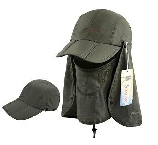 5. Icolor Sun caps Flat Hats 360 Degree solar protection