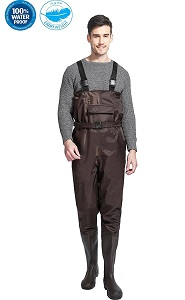 7. Cleated Fishing Hunting Wader for men Boots 2-Ply nylon PVC Waterproof BootFoot Chest Wader