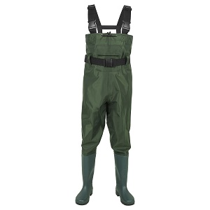 1. Tide BootFoot Chest Wader 2-Ply Nylon/PVC Waterproof Fishing and Hunting Wanders