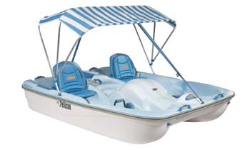 7. Pelican Boats Cascade Deluxe 5-Passanger Pedal Boat