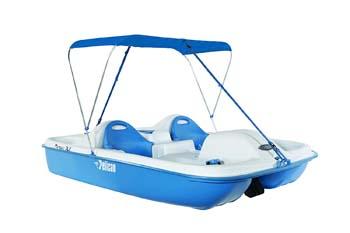 9. Pelican Monaco Deluxe Pedal Boat, White/Blue