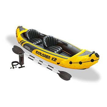4: Intex Explorer K2 Yellow 2 Person Inflatable Kayak