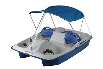 1. Sun Dolphin Sun Slider 5 Seat Pedal Boat with Canopy