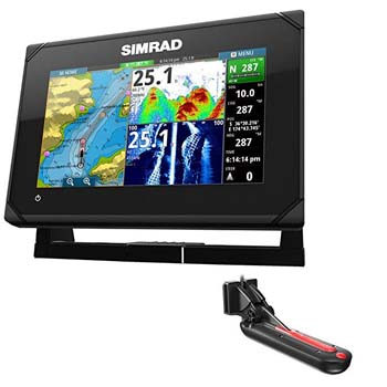 9: Simrad GO7 XSE Chartplotter/Fishfinder w/TotalScan Transom Mount Transducer
