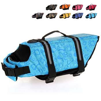 2. HAOCOO Dog Life Jacket Vest Saver Safety Swimsuit Preserver