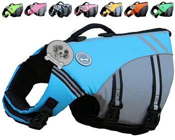 8. Vivaglory New Sports Style Ripstop Dog Life Jacket