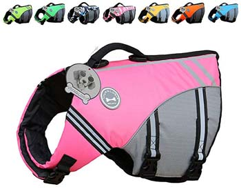 5. Vivaglory New Sports Style Ripstop Dog Life Jacket