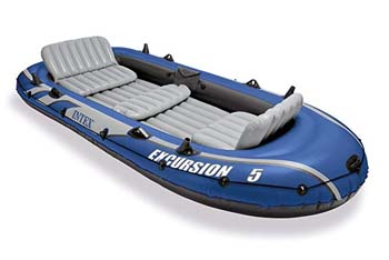 2. Intex Excursion 5 Person Inflatable Boat Set