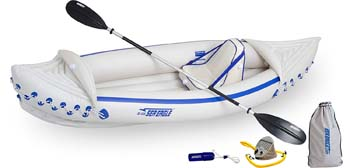 9: Sea Eagle SE330 Inflatable Sports Kayak Pro Solo Package