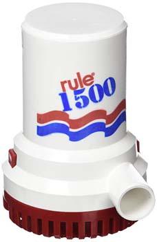 3. Rule 1500 GPH Marine Bilge Pump, Non-Automatic
