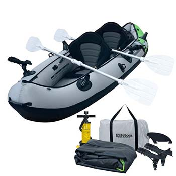 10: Elkton Outdoors Comorant 10-foot 2 Person Inflatable Fishing Kayak