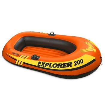 1. Intex Explorer 200, 2-Person Inflatable Boat 2 Pack