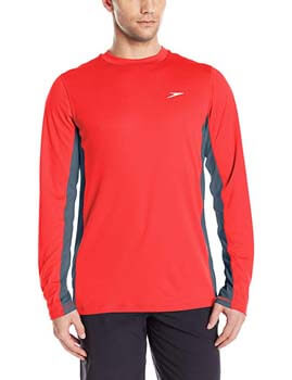 5. Speedo Men's UPF 50+ Longview Long Sleeve Rashguard Swim Tee Shirt