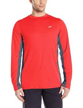 5. Speedo Men's UPF 50+ Longview Long Sleeve Rashguard Swim Tee Shirt
