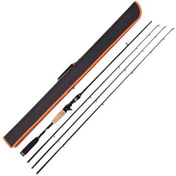 6. Entsport Rattlesnake 2-Piece 7-Feet Casting Rod with 3 Top Pieces Graphite Baitcasting Fishing Rod Portable Baitcast Rod Baitcaster (Medium Heavy, Medium, and Medium Light)