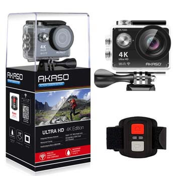 10. AKASO EK7000 4K WiFi Sports Action Camera Ultra HD Waterproof DV Camcorder 12MP 170 Degree Wide Angle