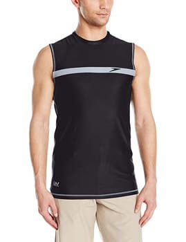 8. Speedo Men's Startline Sleeveless UV Protection Rashguard Swim Shirt