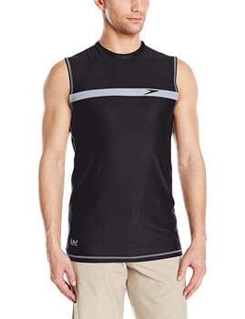 8. Speedo Men's Startline Sleeveless UV Protection Rashguard Swim Shirt