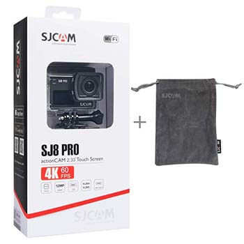 6. SJCAM SJ8 Pro Real 4k 60fps Water Resistant Action Camera, OLED Large Ultra Full HD Touchscreen, EIS Stabilized,