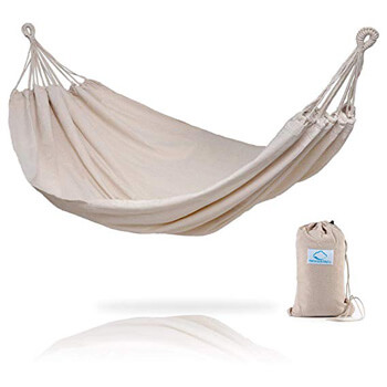 10. Hammock Sky Brazilian Double Hammock - Two Person Bed for Backyard, Porch, Outdoor and Indoor Use - Soft Woven Cotton Fabric for Supreme Comfort (Natural)