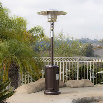 4. Belleze 48,000 BTU Premium Patio Propane Heater.