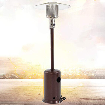 5. Best Massage Patio Heater Tall Hammered Finish Patio Heater.