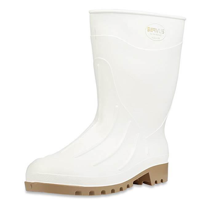 6. Servus 12 Inch PVC Polyblend Soft Toe Shrimp Boots.