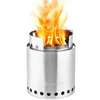 2: Solo Stove Campfire - 4+ Person Compact Wood Burning Camp Stove