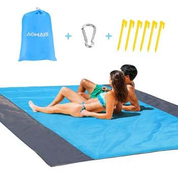 5: AOMAIS Sandfree Beach Blanket Large 108x 85.19''
