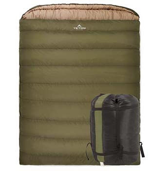 2: TETON Sports Mammoth Queen-Size Double Sleeping Bag