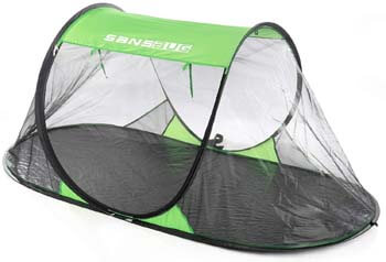 1: SANSBUG 1-Person Free-Standing Pop-Up Mosquito-Net (Tarp Floor)