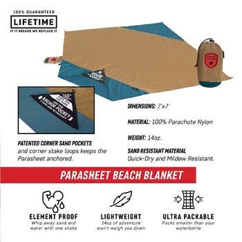 6: Grand Trunk Parasheet Beach Blanket or Picnic Blanket