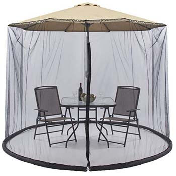 7: Best Choice Products Outdoor 9-Foot Patio Umbrella Bug Screen