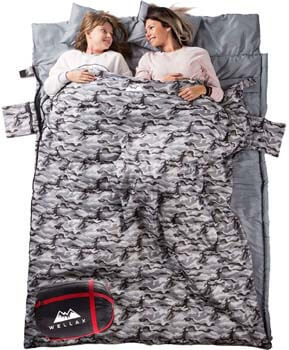 10: WELLAX Double Sleeping Bag
