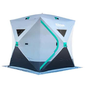 10: Elkton Outdoors Portable 3-8 Person Ice Fishing Tent