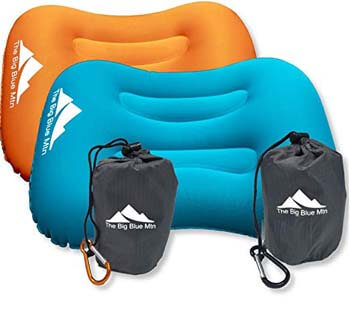 6: The Big Blue Mtn Ultralight Backpacking Inflatable Camping Pillow
