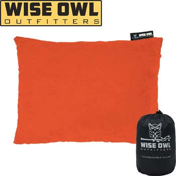 2: Wise Owl Outfitters Camping Pillow Compressible Foam Pillows