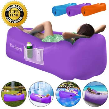 9: Prodigen Inflatable Lounger Chair Air Sofa Inflatable Couch