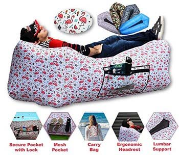 6: CAMPERS LAIR Ergonomic Inflatable Lounger