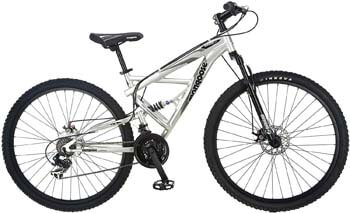 2. Mongoose Impasse Men's Mountain Bike, 18-inch Frame, 29-inch Wheels with Disc Brakes