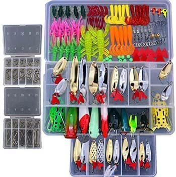 8. Smartonly1 Set 226Pcs Fishing Lure Tackle Kit