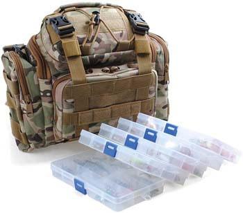 10. Dr. Fish Fishing Tackle Bag Loaded 5 Boxes 60 Huge Fishing Lures Kit