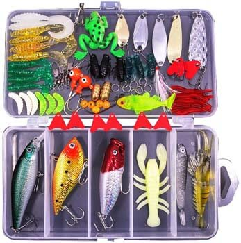 4. Sptlimes 77Pcs Fishing Lures Kit Set