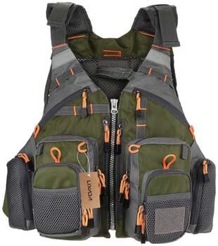 2. Lixada Fly Fishing Vest Breathable Padded Superior 209lb Bearing Life Safety Jacket Fishing Vest
