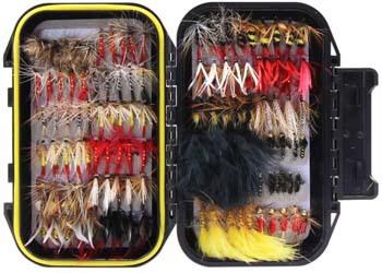 6. Croch 60pcs / 120pcs Fly Fishing Dry Flies Wet Flies Assortment Kit