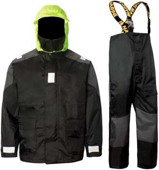 8. Navis Marine Coastal Sailing Jacket with Bib Pants Fishing Rain Suit Foul Weather Gear