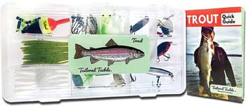 5. Tailored Tackle Trout Fishing Kit 77 Pc Tackle Box